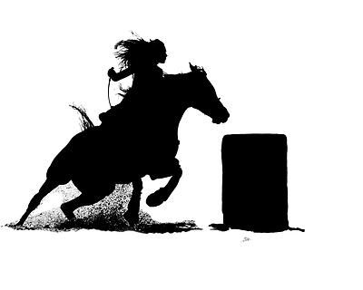 Silhouette | Cowboys and Cowgirls | Pinterest | Racing, Barrel ...