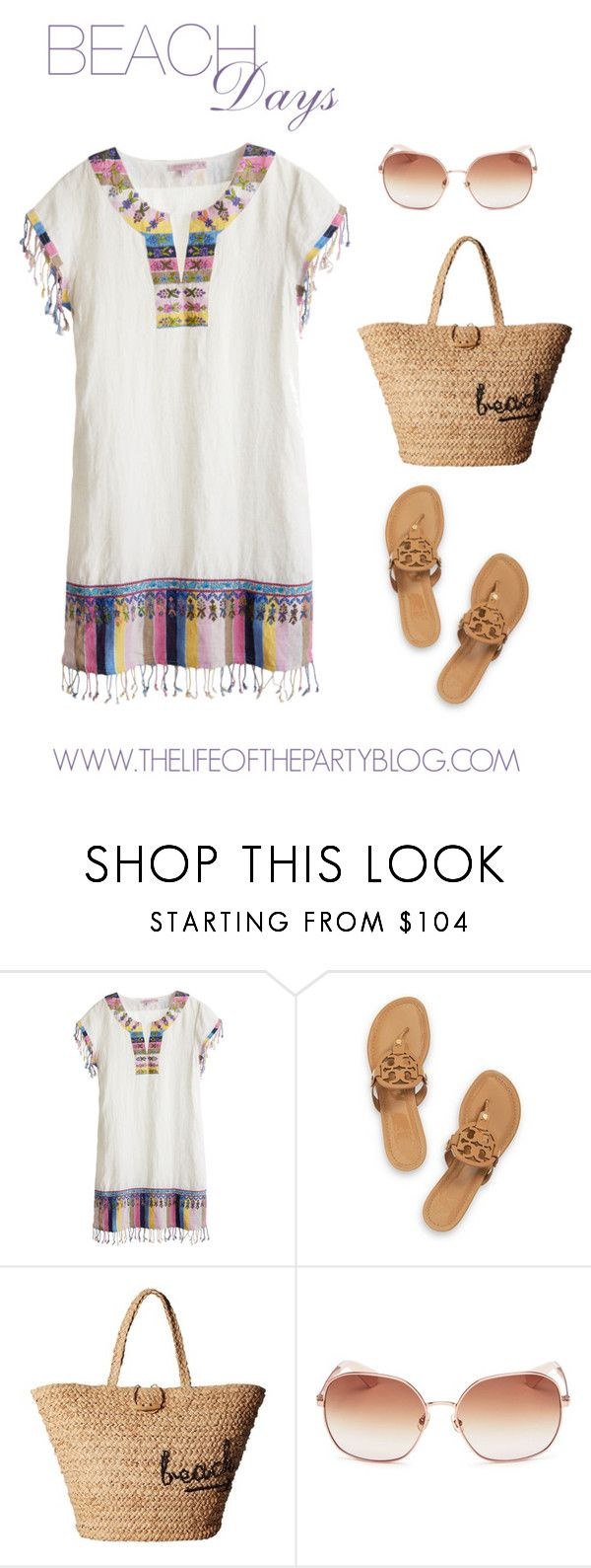 """Beach Days"" by thelifeoftheparty ❤ liked on Polyvore featuring Calypso St. Barth, Tory Burch, Hat Attack and Kate Spade"