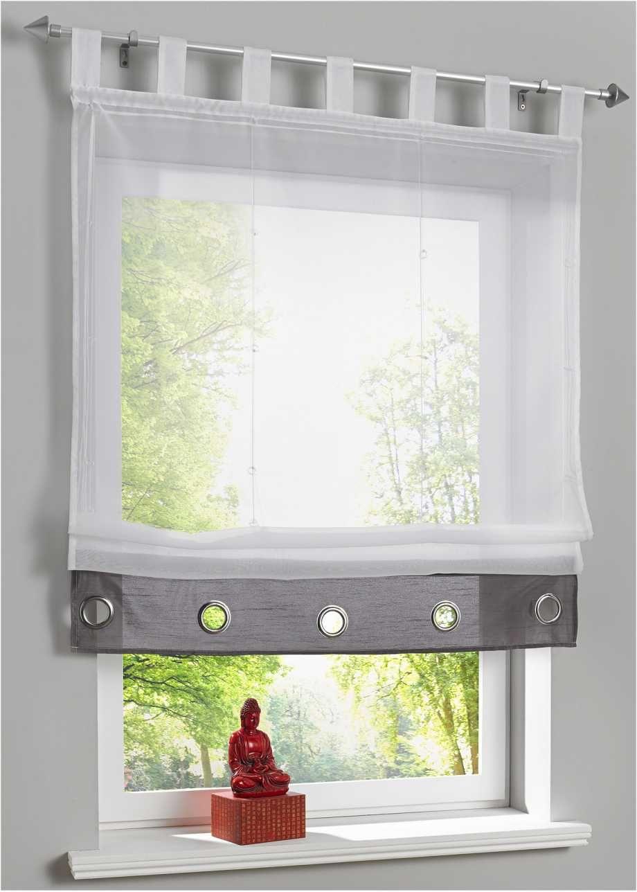 Transparentes Raffrollo mit Zierösen in 18  Raffrollo, Vorhänge