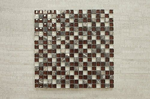 Vetro Marmi Gl Mosaic Tile Burgundy Brown Clear Https