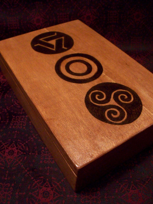 Teen Wolf Inspired Pack Symbol Wood-Burned Trinket/Jewelry Box ...