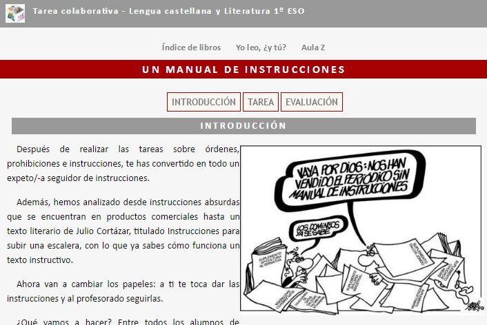 Manual De Instrucciones Tarea Colaborativa Texto Instructivo 1º Eso Instructivo Textos Didactico