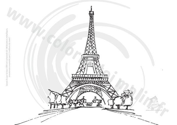 Apprendre à dessiner la Tour Eiffel en 3 étapes
