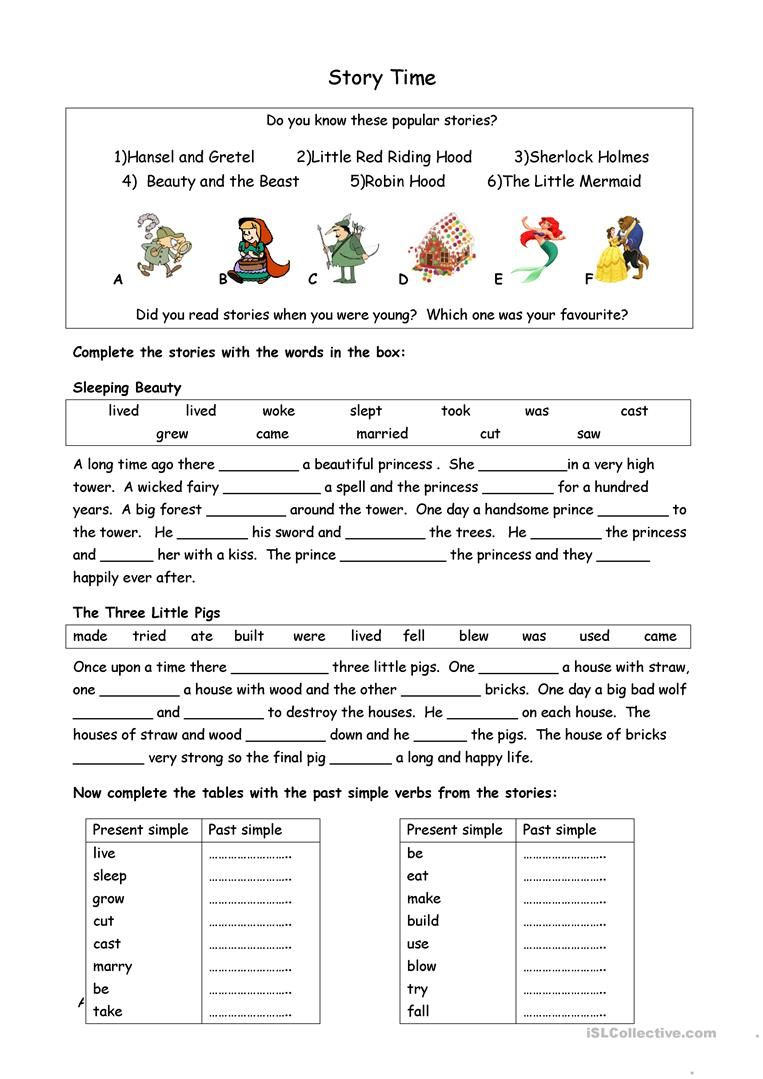 Story Time Worksheet Free Esl Printable Worksheets Made By Teachers Simple Past Tense English Writing Skills English Language Teaching [ 1079 x 763 Pixel ]