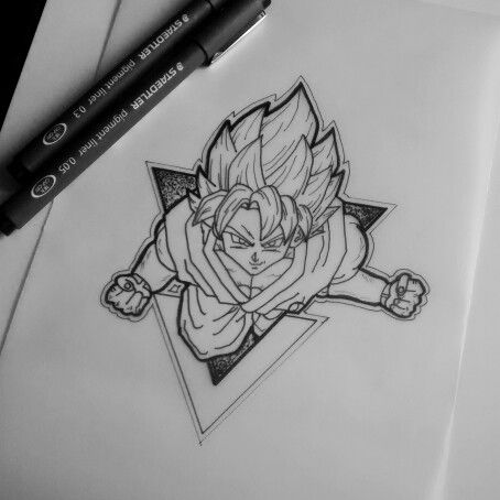 Simple Dragon Ball Tattoo Designs