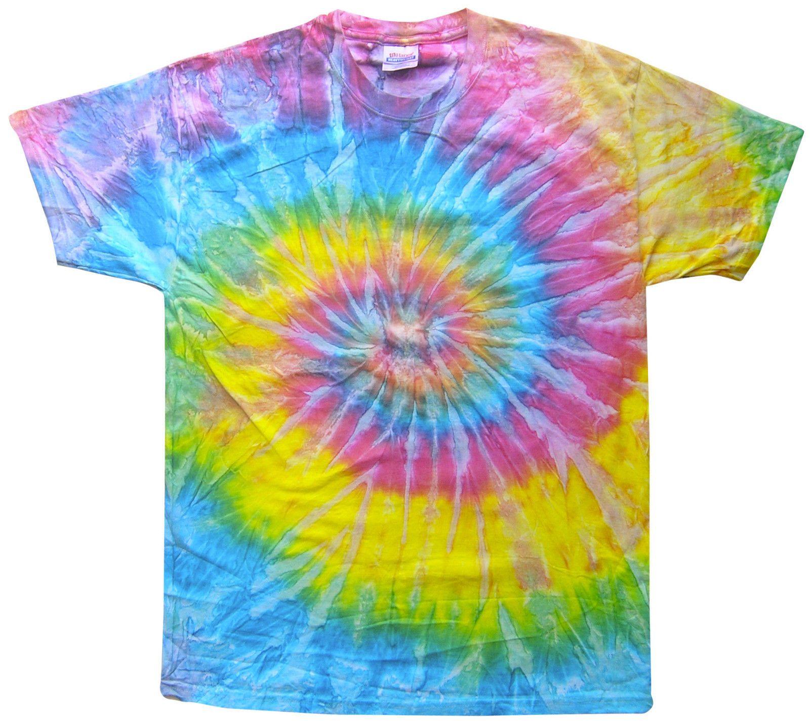 2c4313b0dde Tie Dye T-Shirt Saturn Multi-Color Spiral Short Sleeve S M L XL 2XL ...