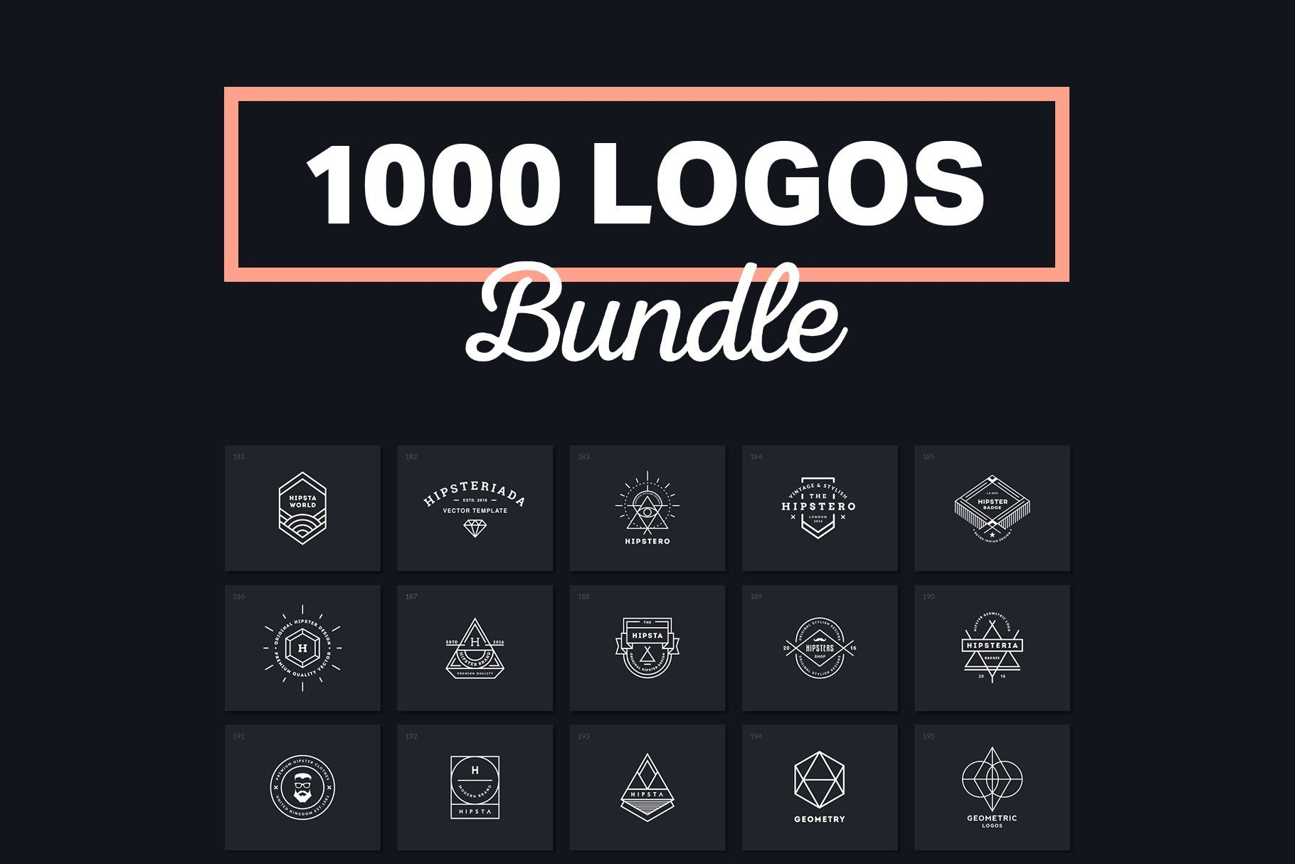 1000 Logos & Badges by Piotr Łapa on creativemarket