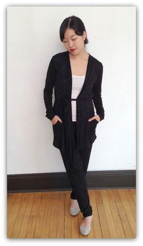 Jillian Robe by Sarah Bibb - Black Fleck, $88.00  serious cozy! #getcozy