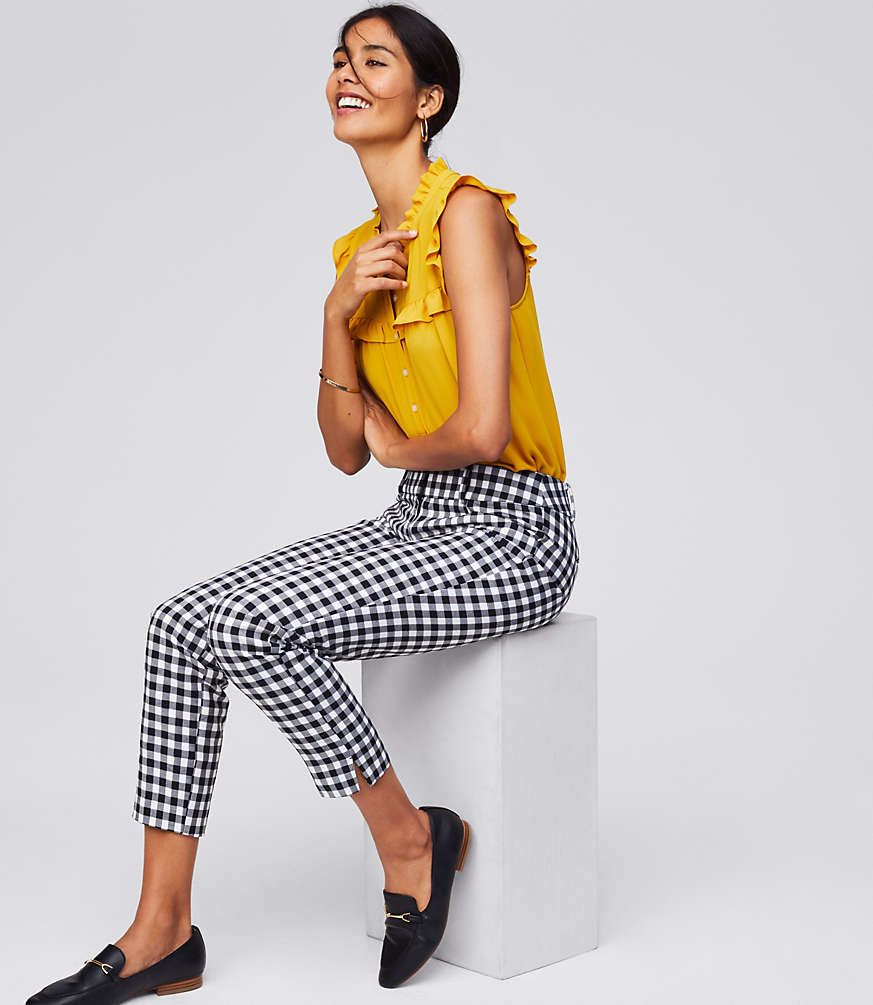 0bb484c7235a1 Shop LOFT for stylish women's clothing. You'll love our irresistible  Gingham Riviera Pants in Marisa Fit - shop LOFT.com today!