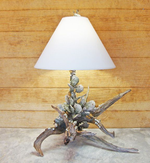 Cedar driftwood porcelain shell sculpture table lamp by joe elder cedar driftwood porcelain shell sculpture table lamp by joe elder kevin collins aloadofball Images