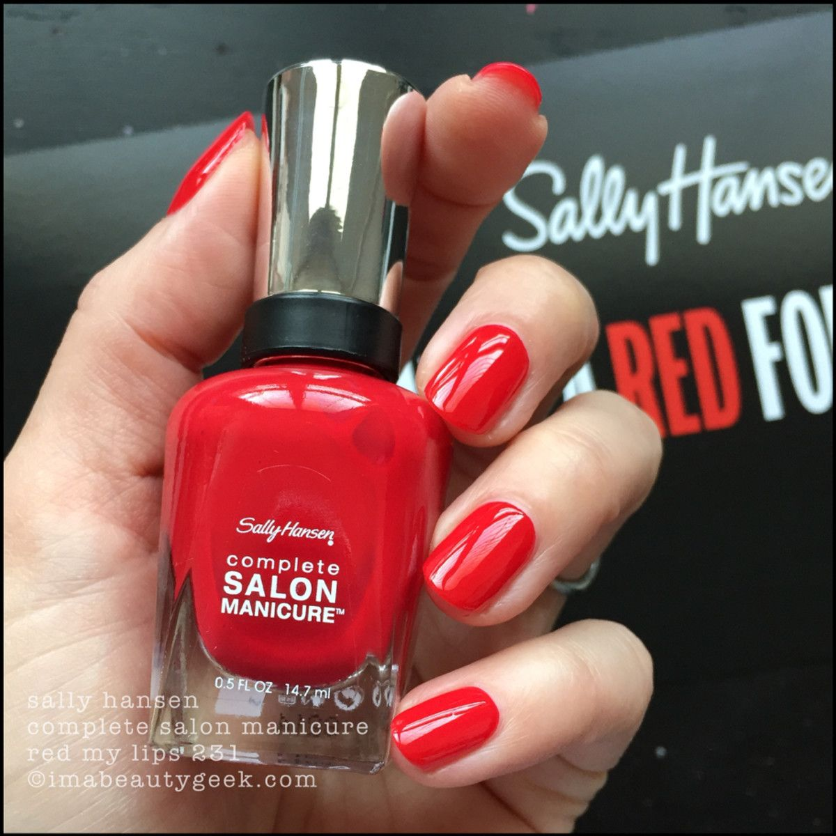 SALLY HANSEN RED/ESIGN SWATCHES & REVIEW in 2019 | Nails, Nails ...