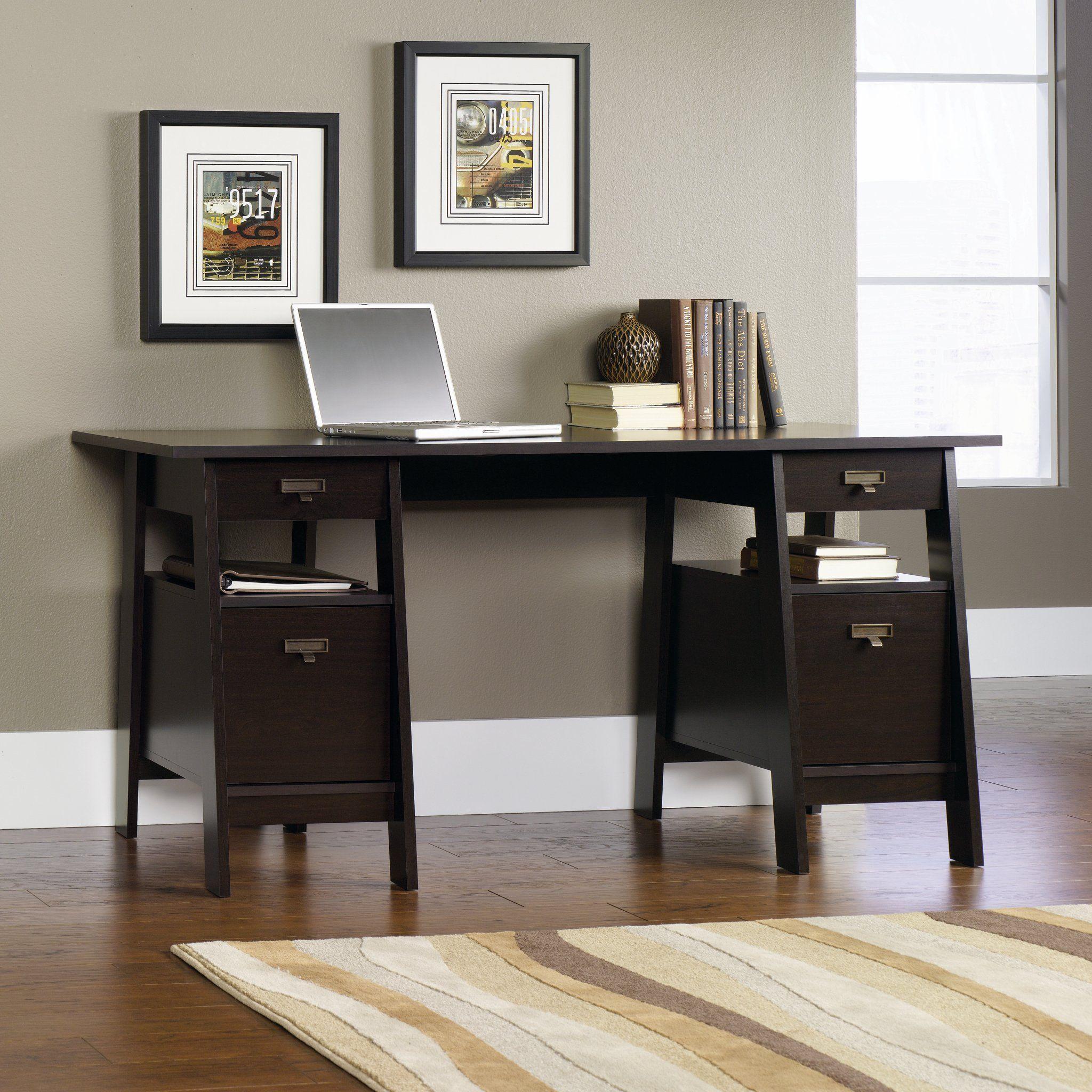 Jamocha Executive Trestle Desk Stockbridge Home office