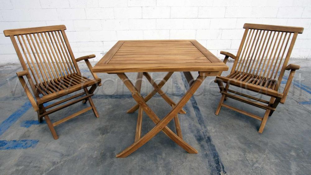 Tavoli Da Esterno Milano.Tavolo In Teak Ideale Per Esterno 70x70 H75 Cm Bambu Design