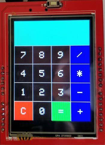 Arduino Touch Screen Calculator User Interface Arduino Projekte