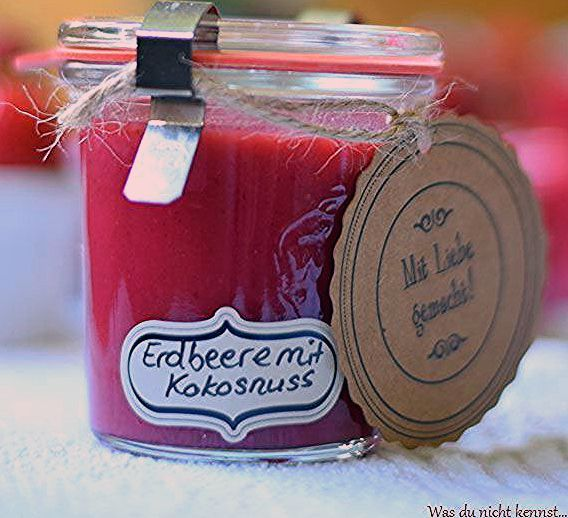 Erdbeer-Kokos Marmelade - Was du nicht kennst...
