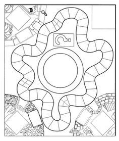 DIY board game printables - have students make games based on short stories - can use plot chart to decide on achievements