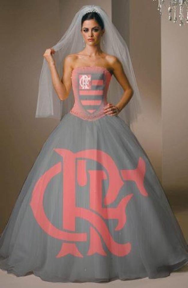 Vestido feminino do flamengo