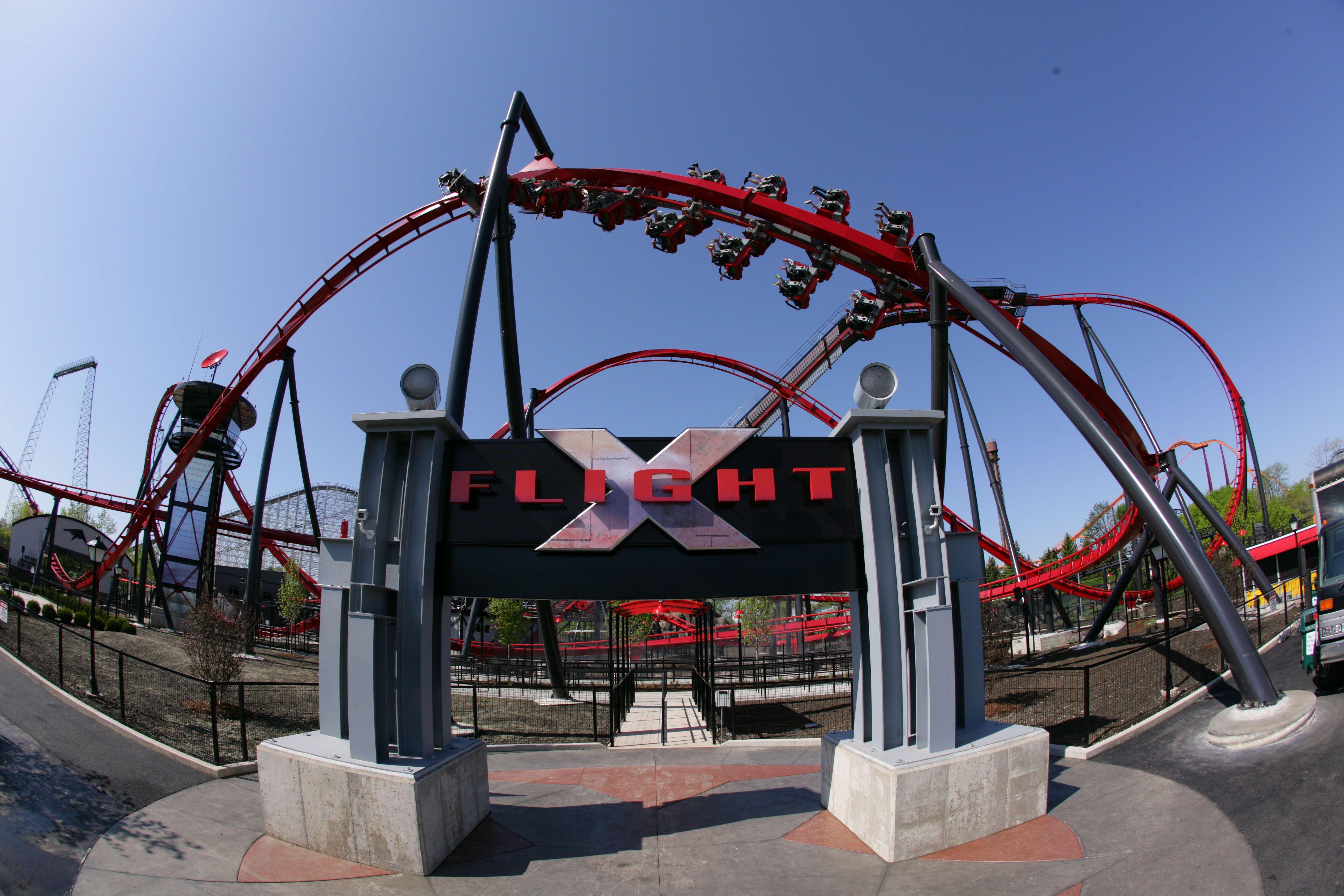 X Flight Great America Roller Coaster Six Flags