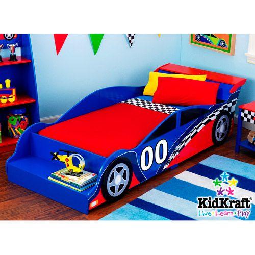 Kidkraft Racecar Toddler Bed Walmart Com Toddler Car Bed Toddler Bed Boy Race Car Toddler Bed