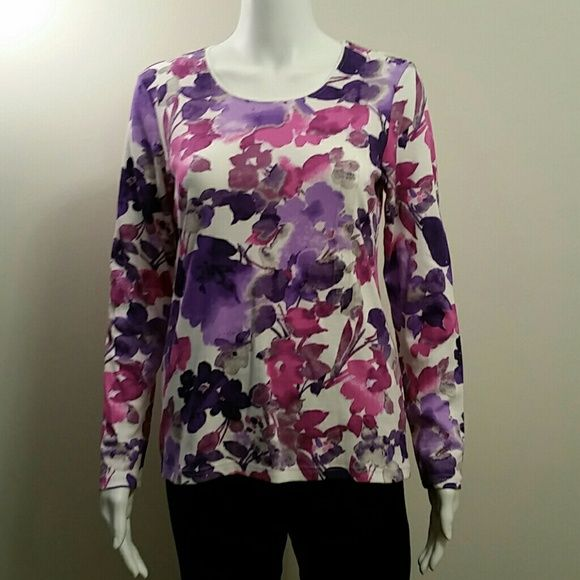 Nwt Karen Scott Floral Top Nwt Resale Obsessions Floral Tops