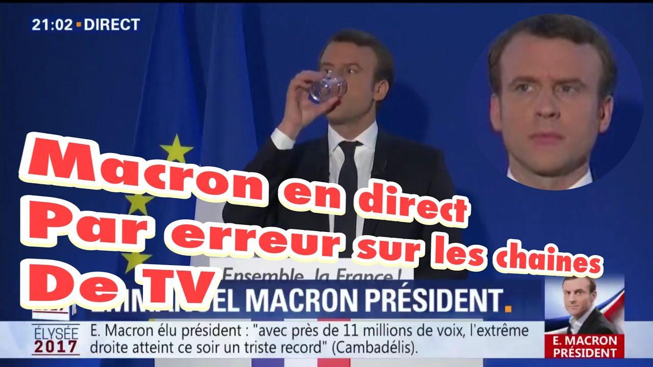 Macron ne sait pas qu'il est en direct avant son discours