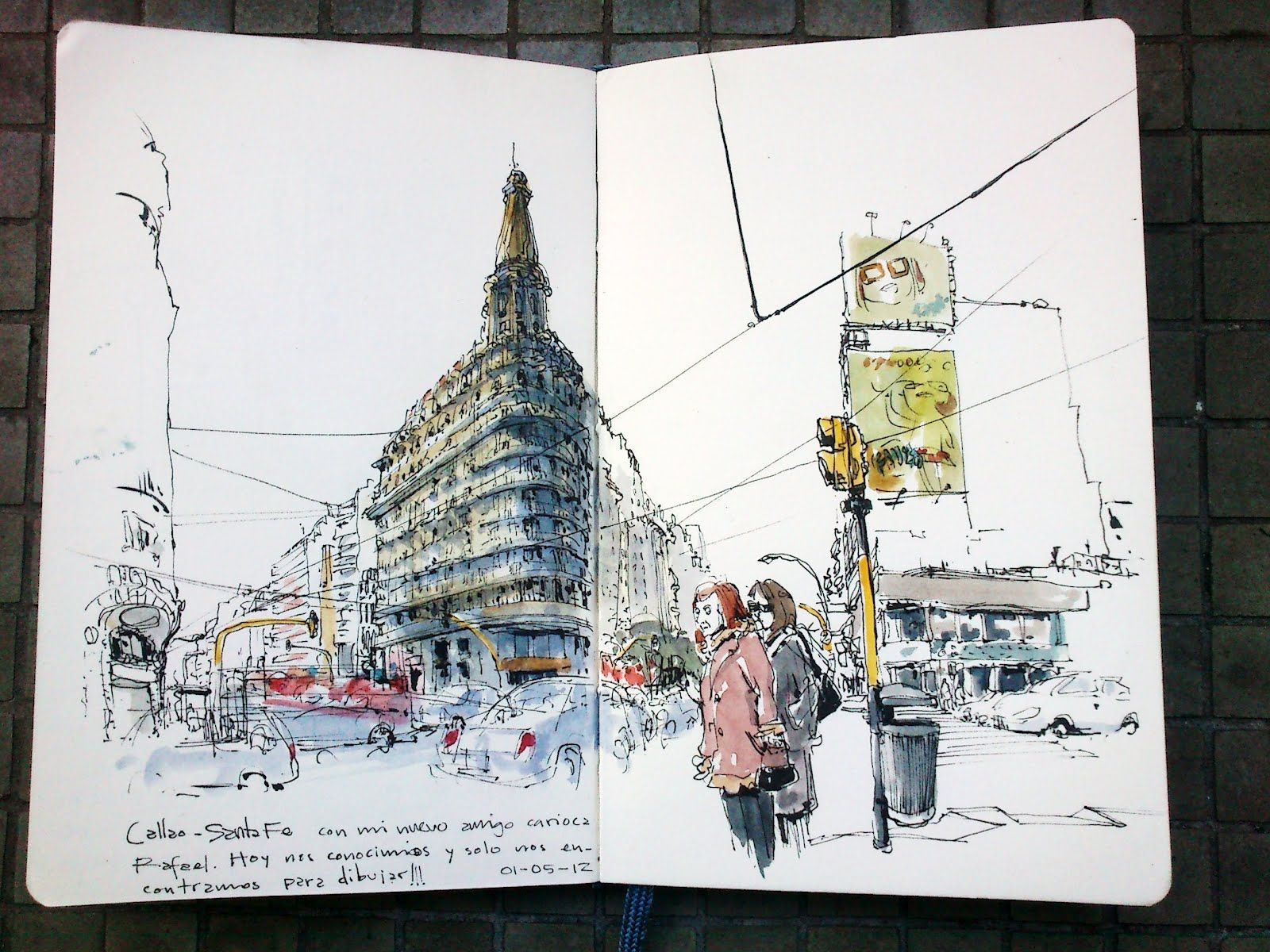 Urban Sketchers: Argentina-Brazil | Sketches | Art ...