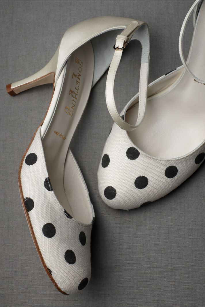 20 Ways to Dip Your Wedding Day in Dots | Bridal heels, Black cream ...