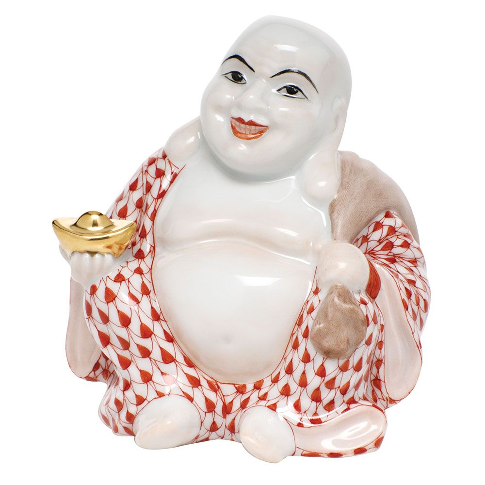 Small Laughing Buddha (With images) Herend figurines