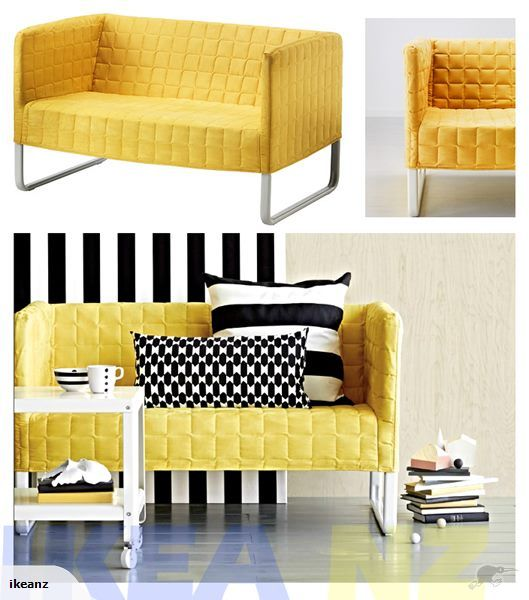 Ikea Knopparp Two Seat Sofa Bright Yellow Yellow Couch Ikea Yellow Ikea Sofa