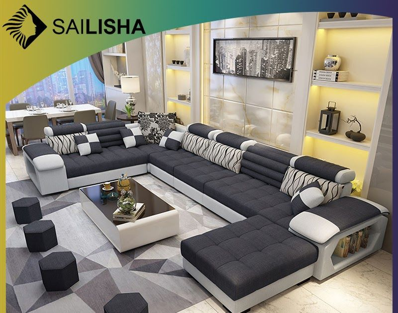 Hot Item Wholesale Factory New L Shaped Modern Simple Furniture Set Design Large Sofa Sectional Com In 2020 Furniture Sets Design Living Room Sofa Set Sofa Set Designs
