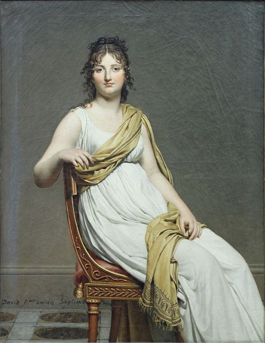 Portrait de madame de Verninac née Henrietta Delacroix -sister of painter Eugene by David Louvre RF1942-16 n2.jpg