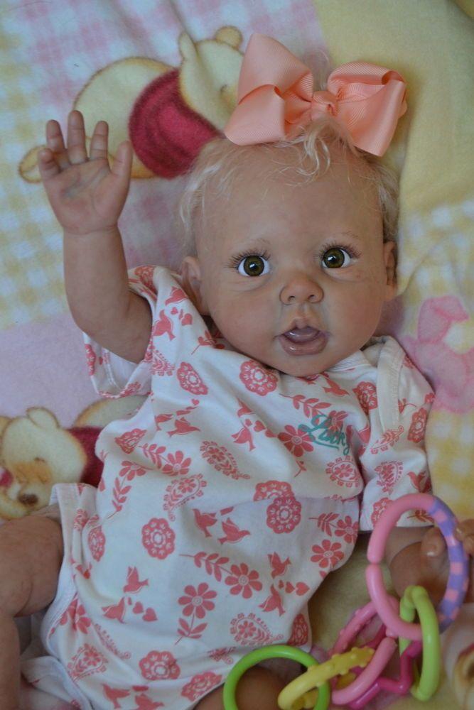 OOAK Reborn baby girl with 3d skin Aspen art doll artist newborn