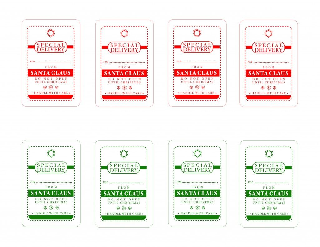 Free santa claus special delivery tags christmas labels and free santa claus special delivery tags free printable christmas negle Images