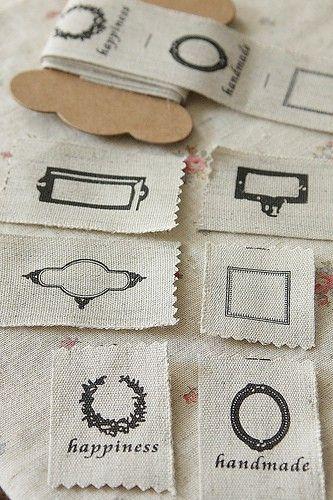 10 etiquetas textiles Handmade