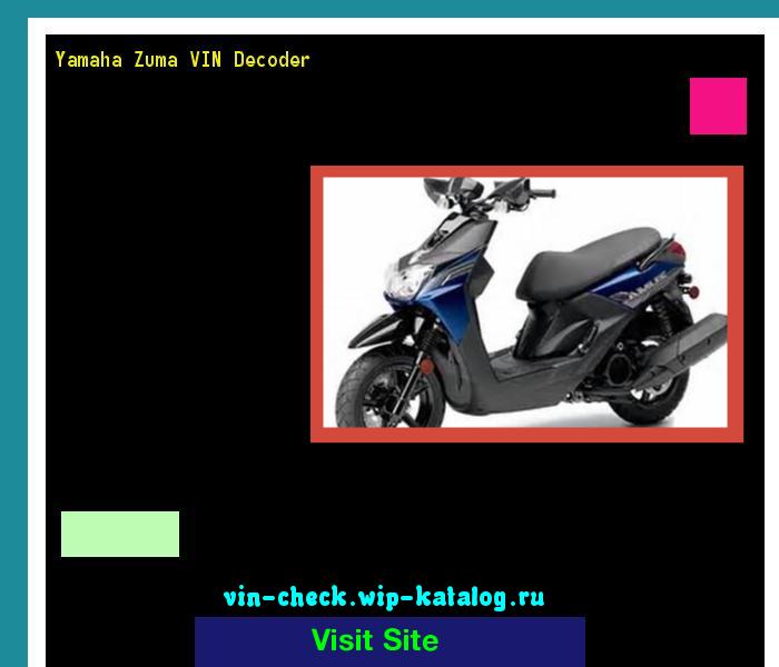 Yamaha Zuma VIN Decoder - Lookup Yamaha Zuma VIN number  200417
