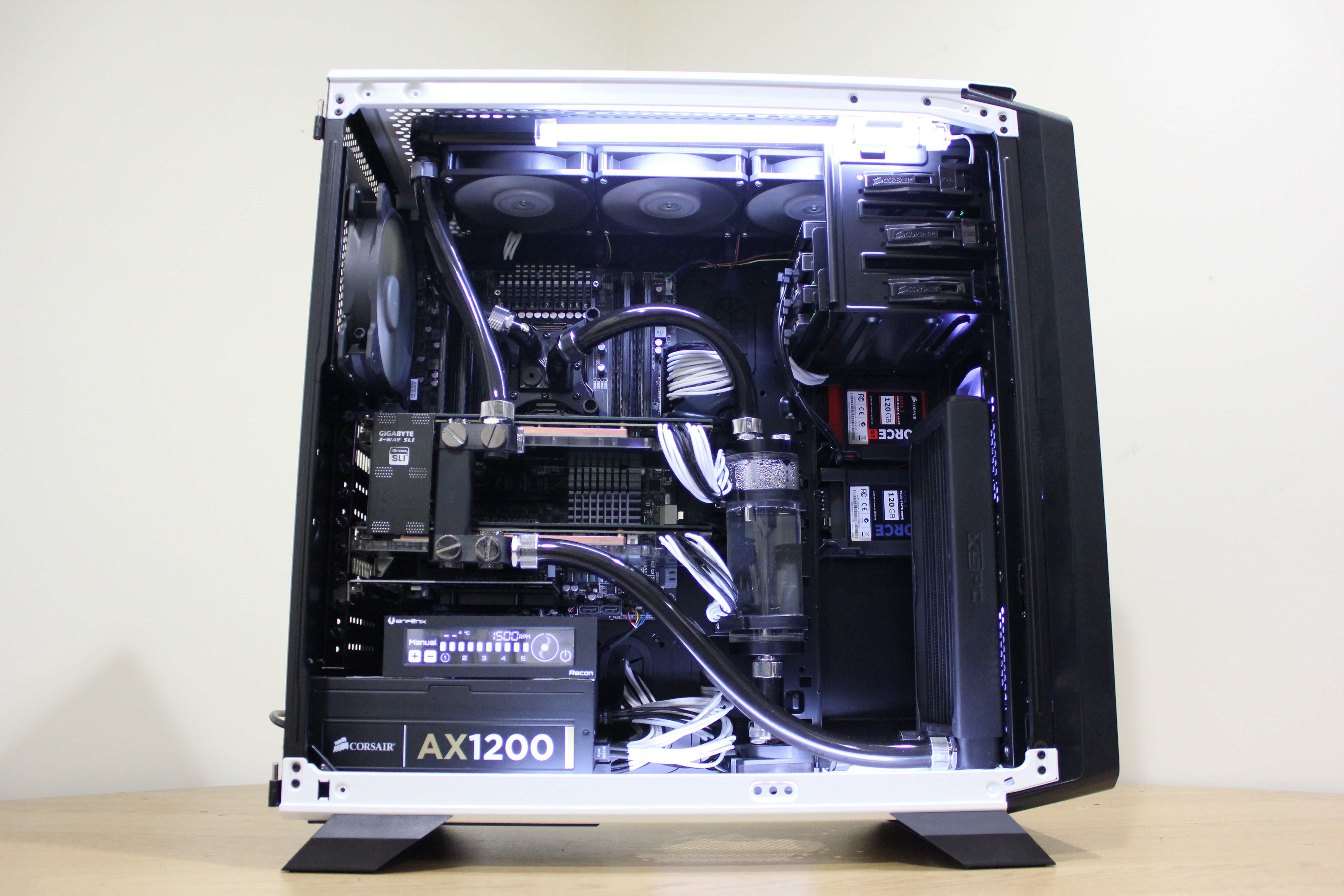 Water Cooled 760t Custom Computer Case Computer Diy Water Cooling