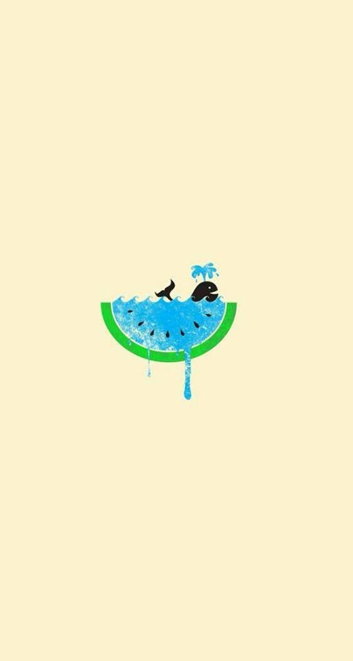 Watermelon Whale Cellphone Wallpaper Emoji Iphone Wallpapers Backgrounds Photos Projects Backdrops