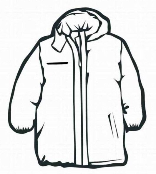 Winter Jacket Coloring Pages Images