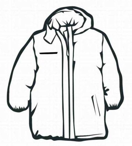 Coat Winter Clothes Coloring Page Invierno