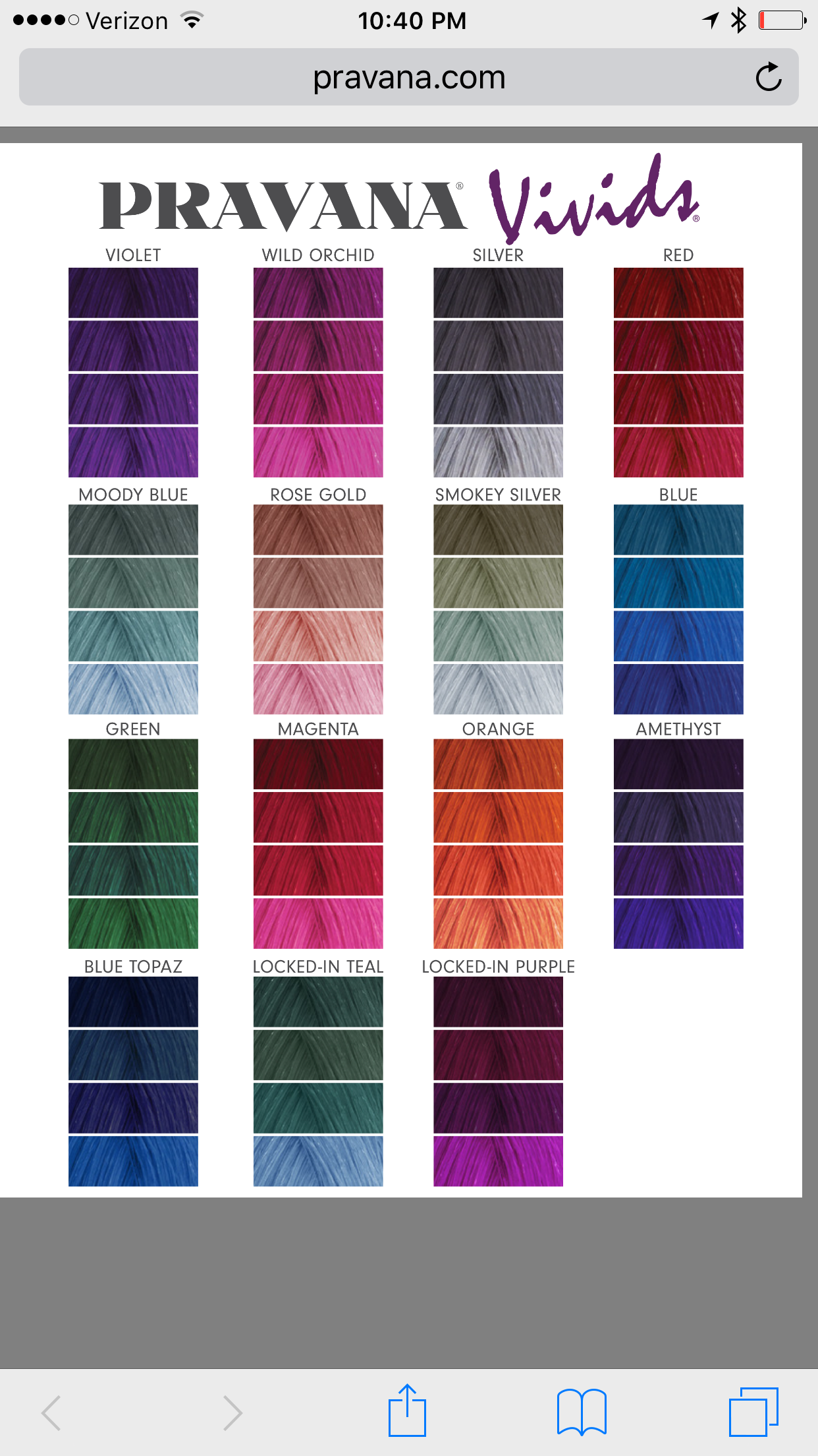 Pravana vivids color chart hair pinterest hair natural red