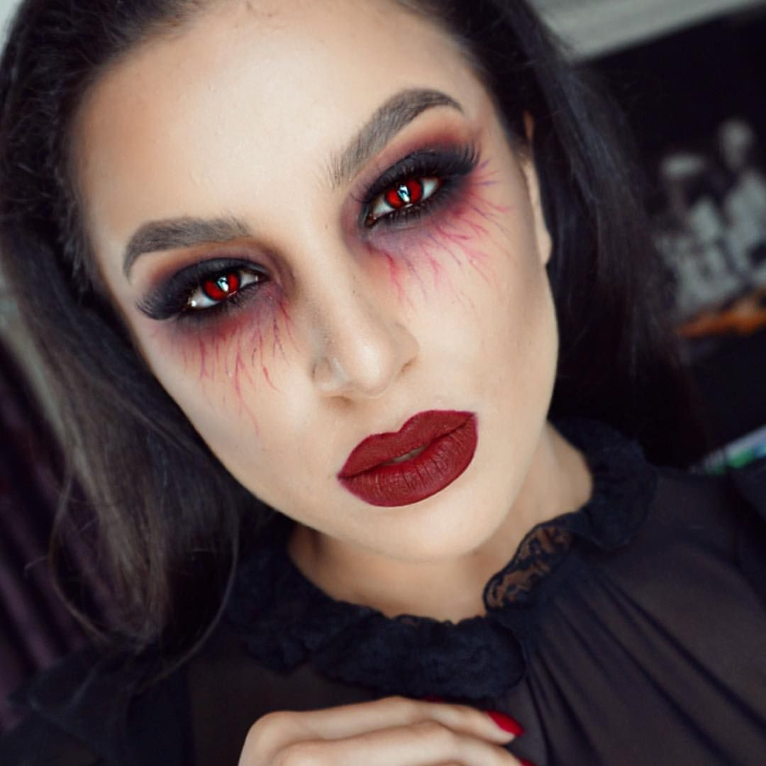 Vampire make up by leyla in our second inspirational halloween v a m p i r e new halloween tutorial is up on my channel link is on my bio i will list all the details tomorrow goodnight my lovlies baditri Gallery