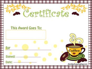 Fantastic Coffee Award Coffee Awards Free Printable Ideas From Download Free Architecture Designs Scobabritishbridgeorg