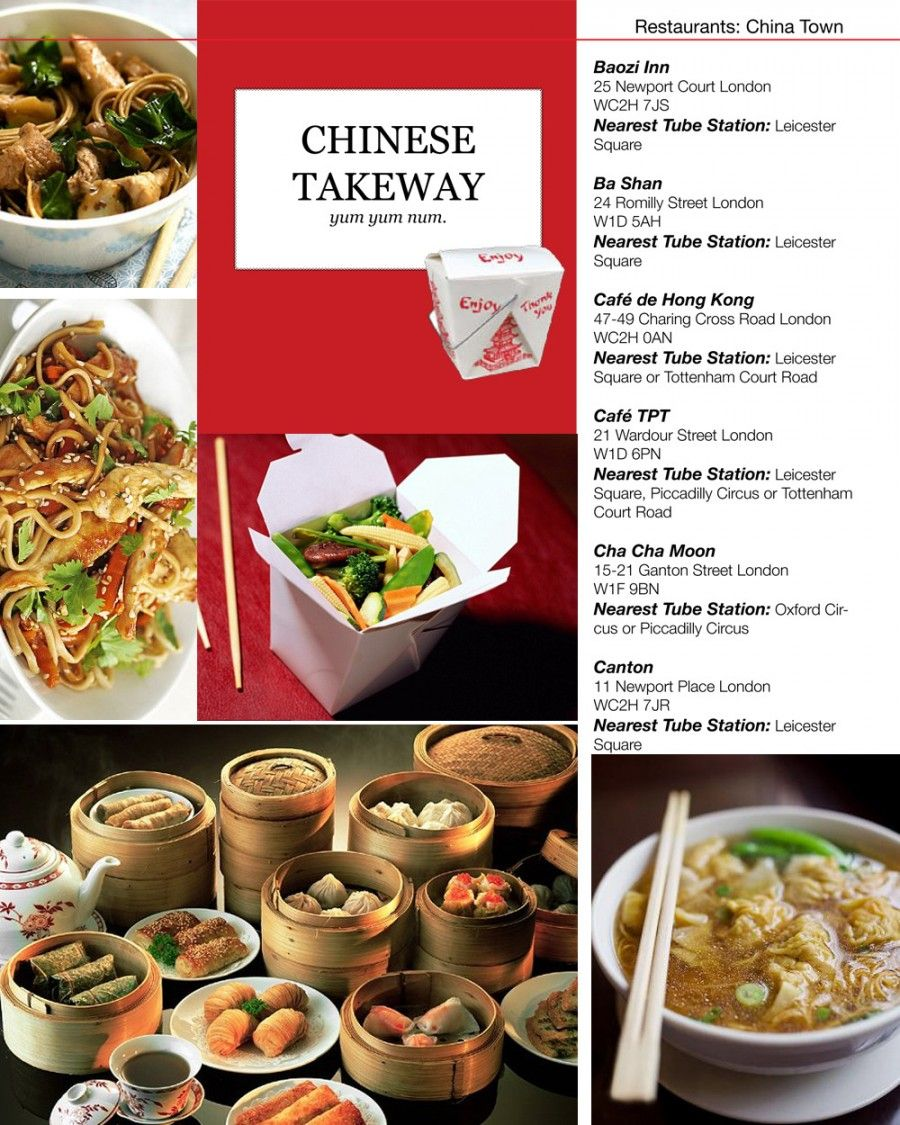 Chinese Takeaways In London Chinese Takeaway Food Food Menu
