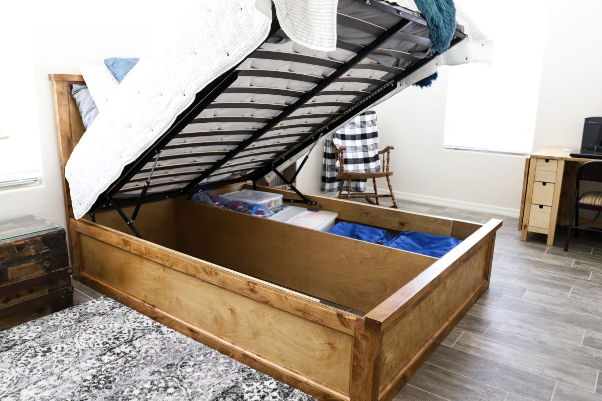 How To Build A Queen Size Storage Bed In 2020 Queen Size Storage
