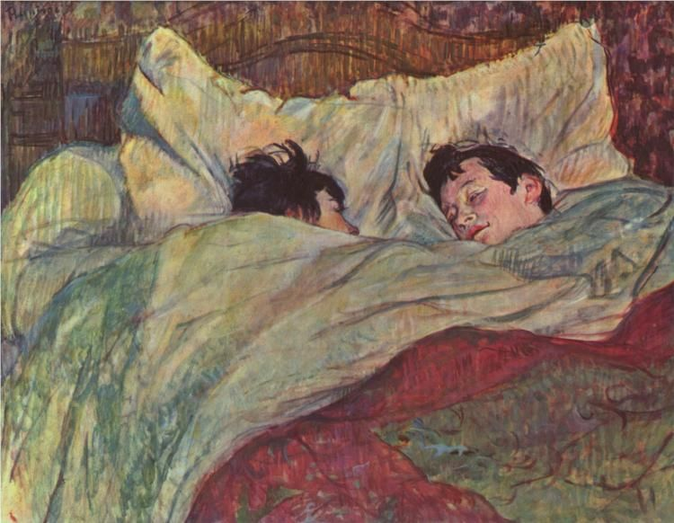In Bed - Henri de Toulouse-Lautrec (1893)