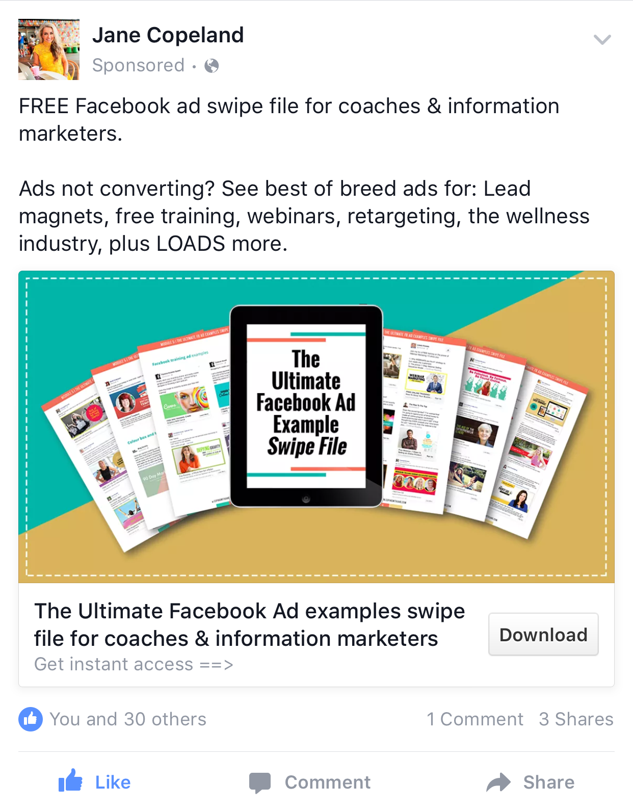 jane copeland internet entrepreneur ad on facebook facebook ad jane copeland internet entrepreneur ad on facebook
