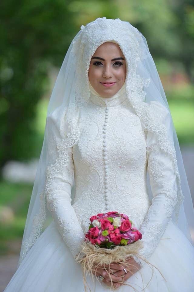 Hijabweddingdress tesettür gelinlik | muslim bride | Pinterest ...