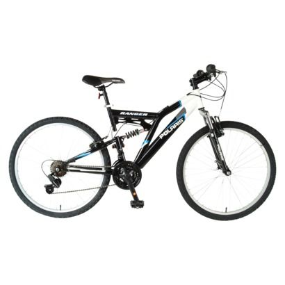 Polaris Men S Ranger 26 Dual Suspension Mountain Bike Black Mens Mountain Bike Boys Mountain Bike Dual Suspension Mountain Bike