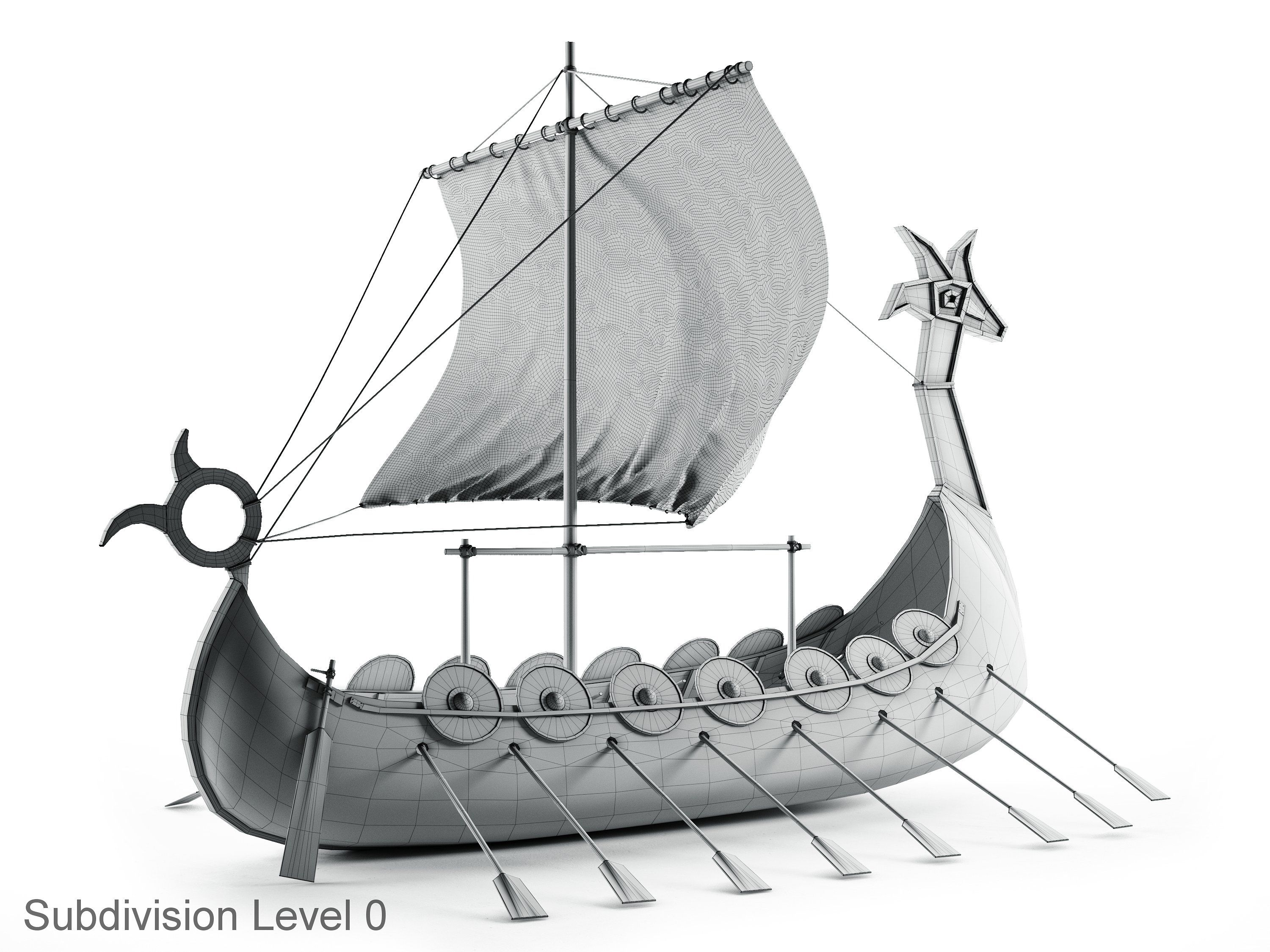 Viking Ship Extremely Detailed Realistic Quality