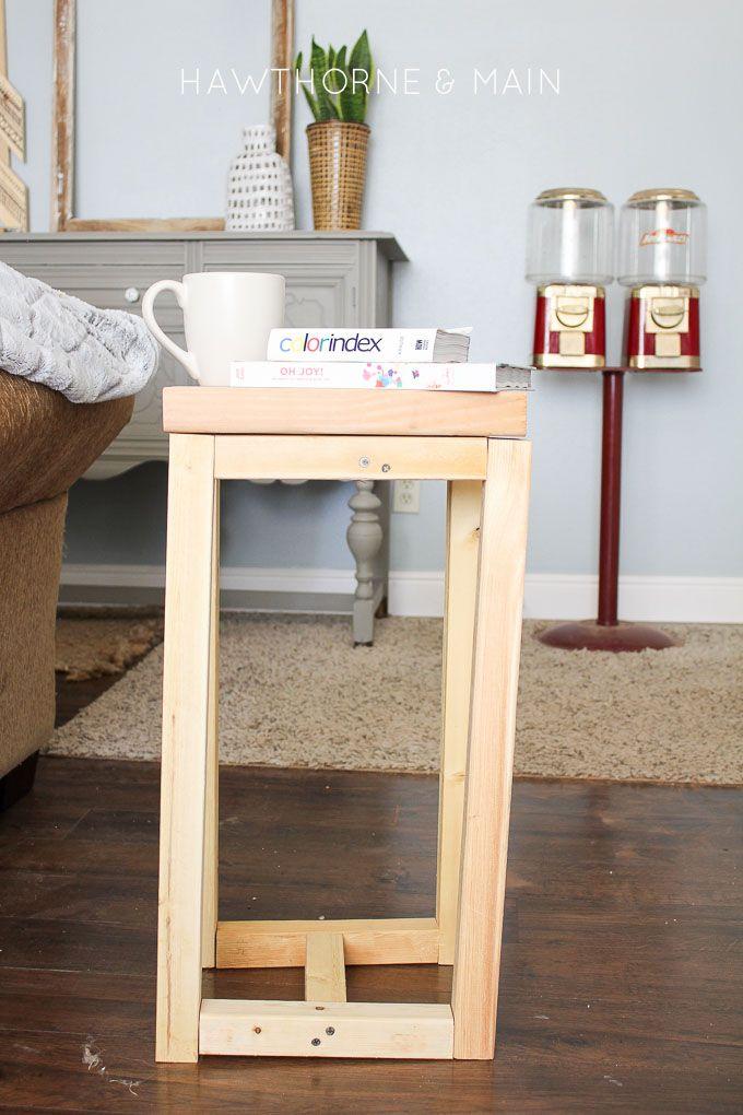 Simple Diy Wood Side Table Side Table Wood Wood Diy